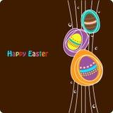 Huevos de Pascua coloridos ilustración del vector