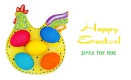 Huevos de Pascua coloridos fotografía de archivo libre de regalías