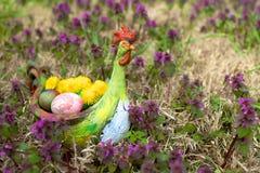 Huevos de Pascua coloridos Fotos de archivo