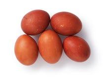Huevos de Pascua coloridos desde arriba Imagen de archivo libre de regalías