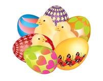 Huevos de Pascua coloridos hermosos aislados Imagen de archivo libre de regalías