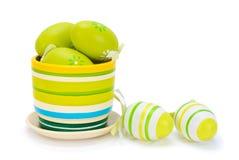 Huevos de Pascua coloridos pintados Fotografía de archivo libre de regalías