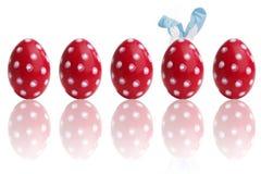Huevos de Pascua coloridos pintados a mano Fotografía de archivo