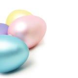 Huevos de Pascua con el espacio de la copia Foto de archivo libre de regalías