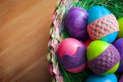 Huevos de Pascua con el espacio de la copia Imágenes de archivo libres de regalías