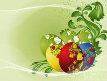 Huevos de Pascua con el modelo stock de ilustración