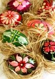 huevos de Pascua con el ornamento Imagen de archivo