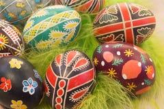Huevos de Pascua con imagen Imagen de archivo