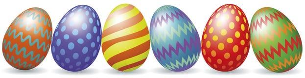Huevos de Pascua con la sombra ilustración del vector