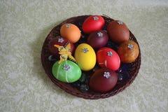 Huevos de Pascua con las lentejuelas Foto de archivo libre de regalías