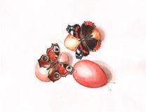 Huevos de Pascua con las mariposas libre illustration