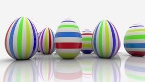 Huevos de Pascua con las rayas en blanco ilustración del vector