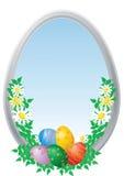 Huevos de Pascua con los camomiles stock de ilustración