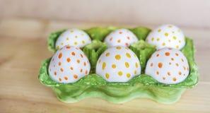 Huevos de Pascua con los puntos Fotografía de archivo libre de regalías