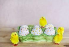 Huevos de Pascua con los puntos Foto de archivo