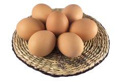 Huevos de Pascua con una cruz Imagenes de archivo