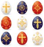 Huevos de Pascua cristianos del símbolo Imágenes de archivo libres de regalías