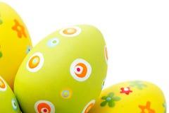 Huevos de Pascua de la esquina izquierda Imagenes de archivo