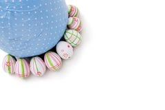 Huevos de Pascua de la esquina superior Imagen de archivo