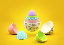 Huevos de Pascua de la jerarquización Imagen de archivo libre de regalías