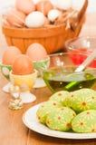 Huevos de Pascua de la pintura Fotografía de archivo libre de regalías