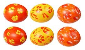 Huevos de Pascua de la pintura de la mano Imagen de archivo