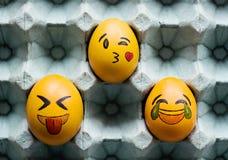 Huevos de Pascua de los Emoticons Fotos de archivo libres de regalías