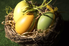 Huevos de Pascua de los paques de Joyeuses Imágenes de archivo libres de regalías