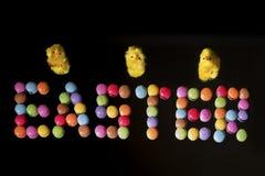 Huevos de Pascua de los paques de Joyeuses foto de archivo