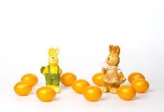 Huevos de Pascua de oro Foto de archivo libre de regalías