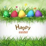 Huevos de Pascua de oro en un fondo de madera stock de ilustración