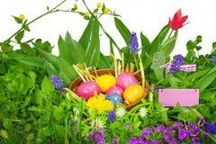 Huevos de Pascua, decoración de Pascua Foto de archivo libre de regalías