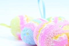 Huevos de Pascua Decoraciones para Pascua Foto de archivo libre de regalías