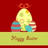 Huevos de Pascua decorativos stock de ilustración
