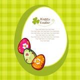 Huevos de Pascua decorativos ilustración del vector