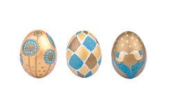 Huevos de Pascua decorativos Foto de archivo libre de regalías