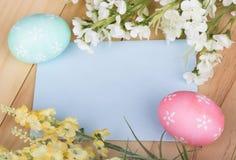 Huevos de Pascua decorativos Fotografía de archivo libre de regalías