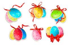Huevos de Pascua decorativos. Tarjetas de pascua