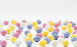 Huevos de Pascua del caramelo de chocolate Imagen de archivo