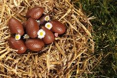 Huevos de Pascua del chocolate Fotos de archivo libres de regalías