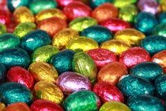 Huevos de Pascua del chocolate Foto de archivo libre de regalías