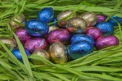 Huevos de Pascua del chocolate Fotografía de archivo libre de regalías