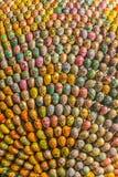 Huevos de Pascua del ucraniano en muchos diversos colores Imagen de archivo