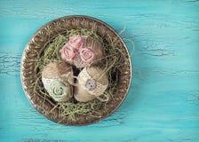 Huevos de Pascua del vintage Fotos de archivo libres de regalías