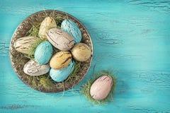 Huevos de Pascua del vintage Fotografía de archivo libre de regalías
