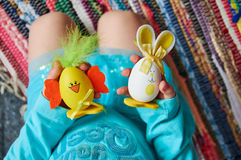 Huevos de Pascua disponibles Imagen de archivo libre de regalías