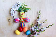 Huevos de Pascua divertidos Imagen de archivo