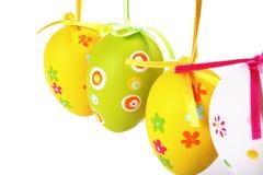 Huevos de Pascua en colores pastel y coloreados Fotografía de archivo libre de regalías
