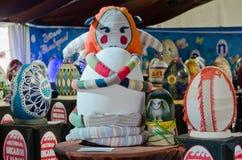 Huevos de Pascua en el festival en Lvov Foto de archivo