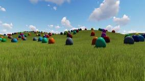Huevos de Pascua en el prado metrajes